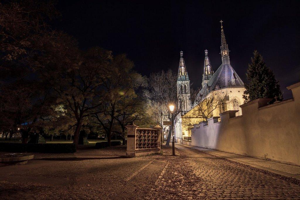 Noční Praha, Vyšehrad, Bazilika sv. Petra a Pavla - IMG-6377.jpg